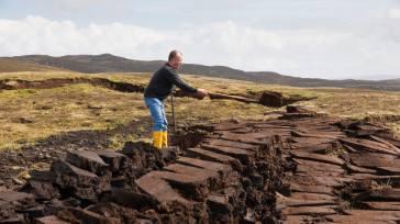 Peat cutting on Islay.