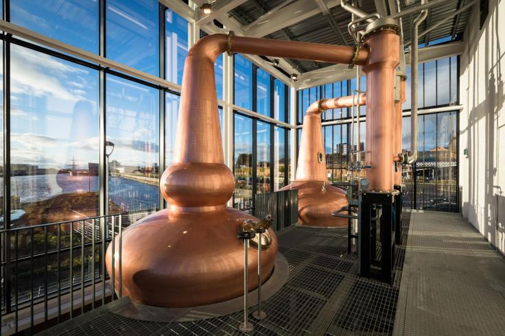 Pot stills at the Clydeside Distillery / Copyright: Clydeside Distillery