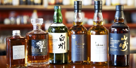 Japanese whiskies.