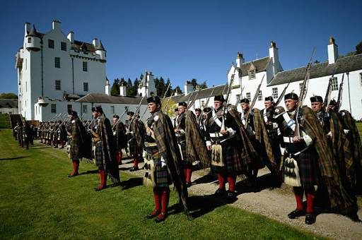 The Atholl Highlanders at Blair Castle.