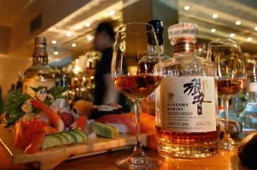 Whisky and sushi