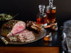 Whisky and steak